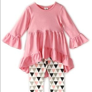NWT Toddler Tunic Set Pink 6 yr old